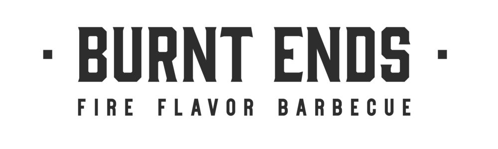 Burnt Ends horizontal logo in charcoal
