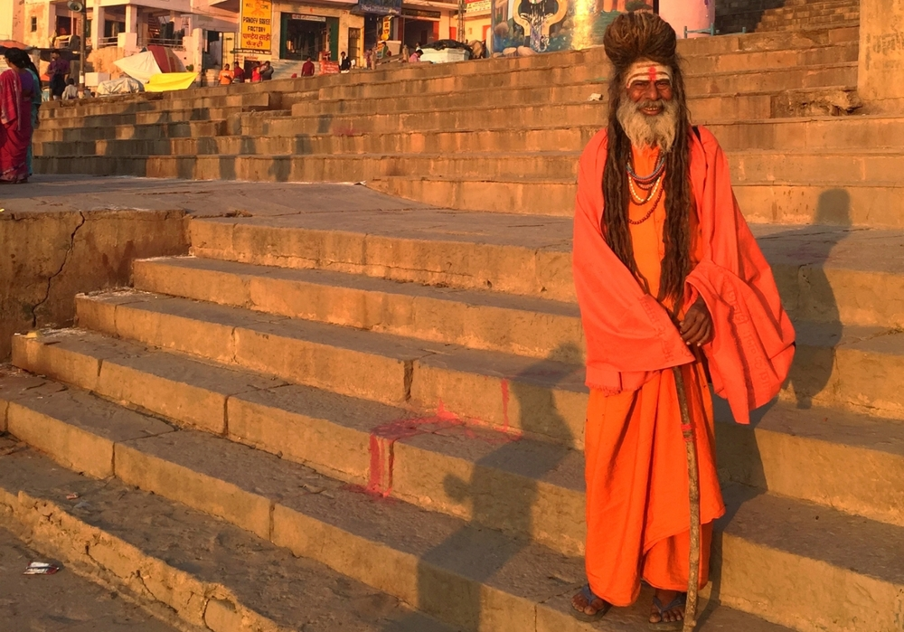 Sadhu, holy men, in Varanasi, India.