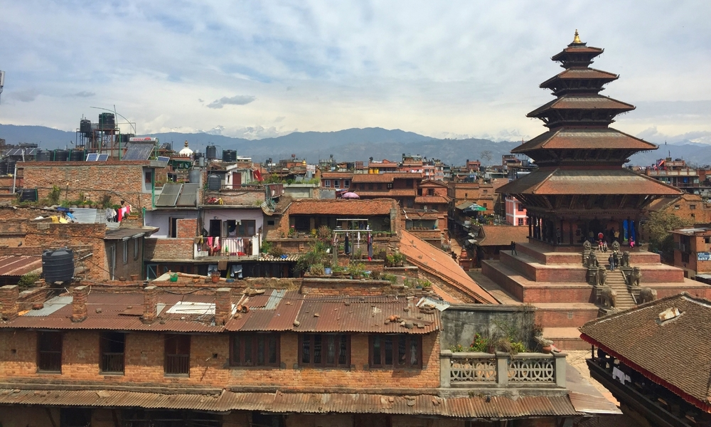 Bhaktapur before the earthquake in Nepal.