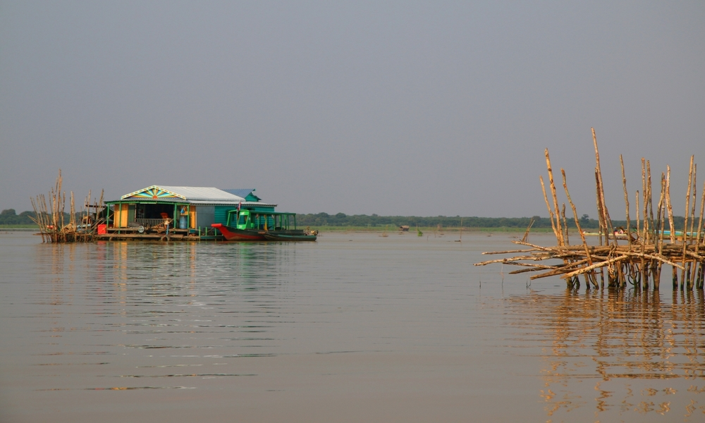 The floating villages on the Mekong River, Vietnam.