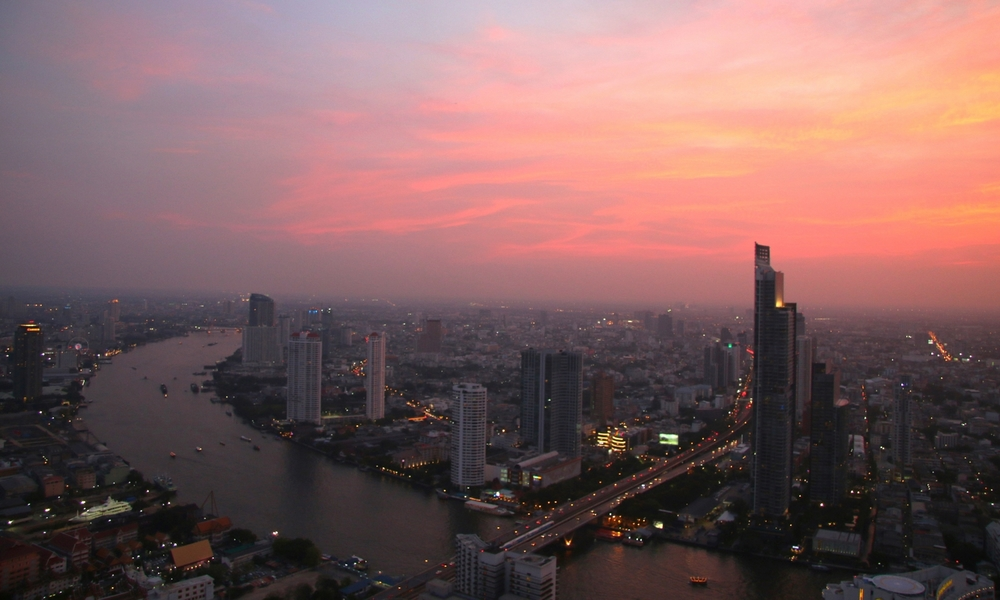 Views over Bangkok from the Lebua Hotel.