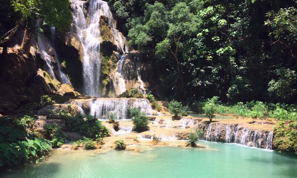 Kuan Si Falls, Luang Prabang, Laos.