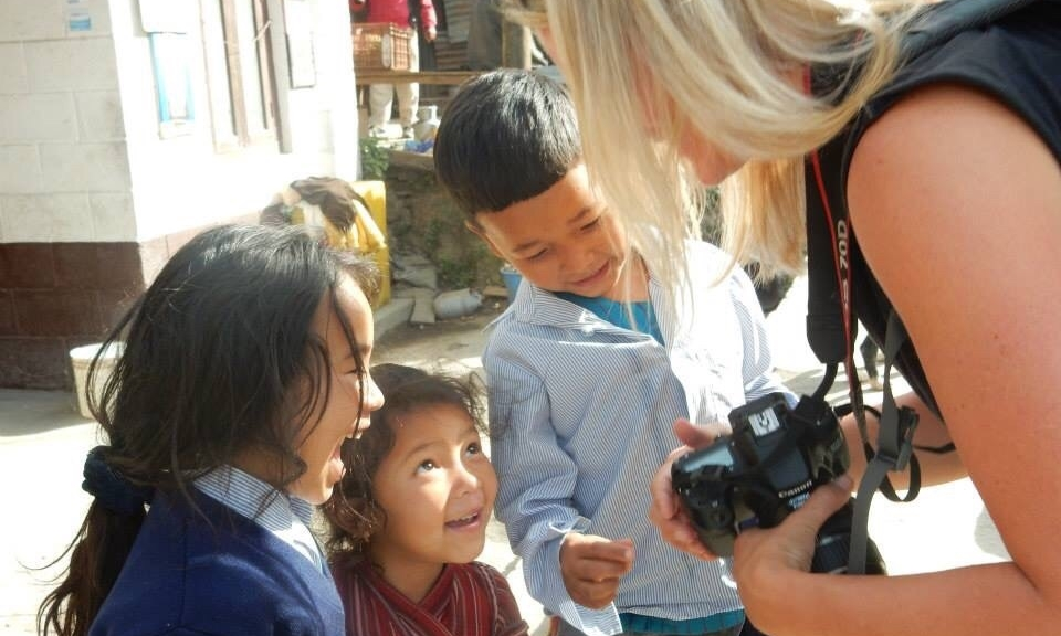 The joy on the children's faces when seeing their images on the camera.