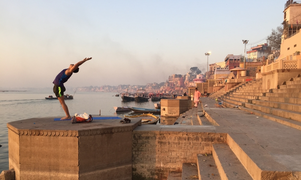 The ghats of Varanasi, India.