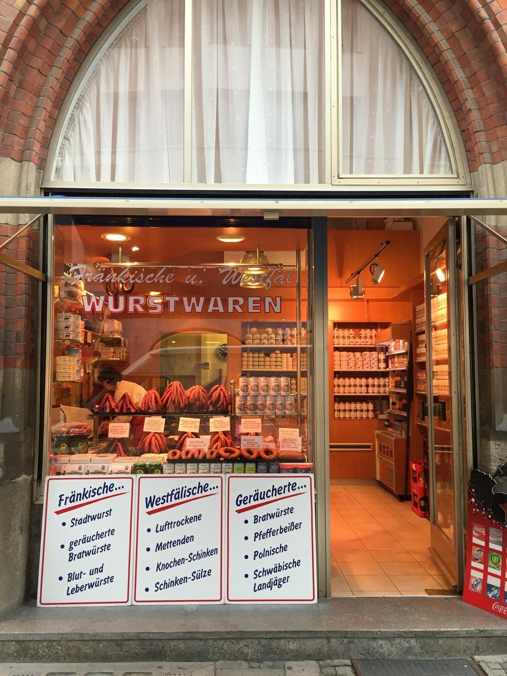 They love a sausage. Munich.