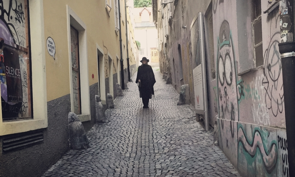 Wandering the graffitied streets of Ljubljana.