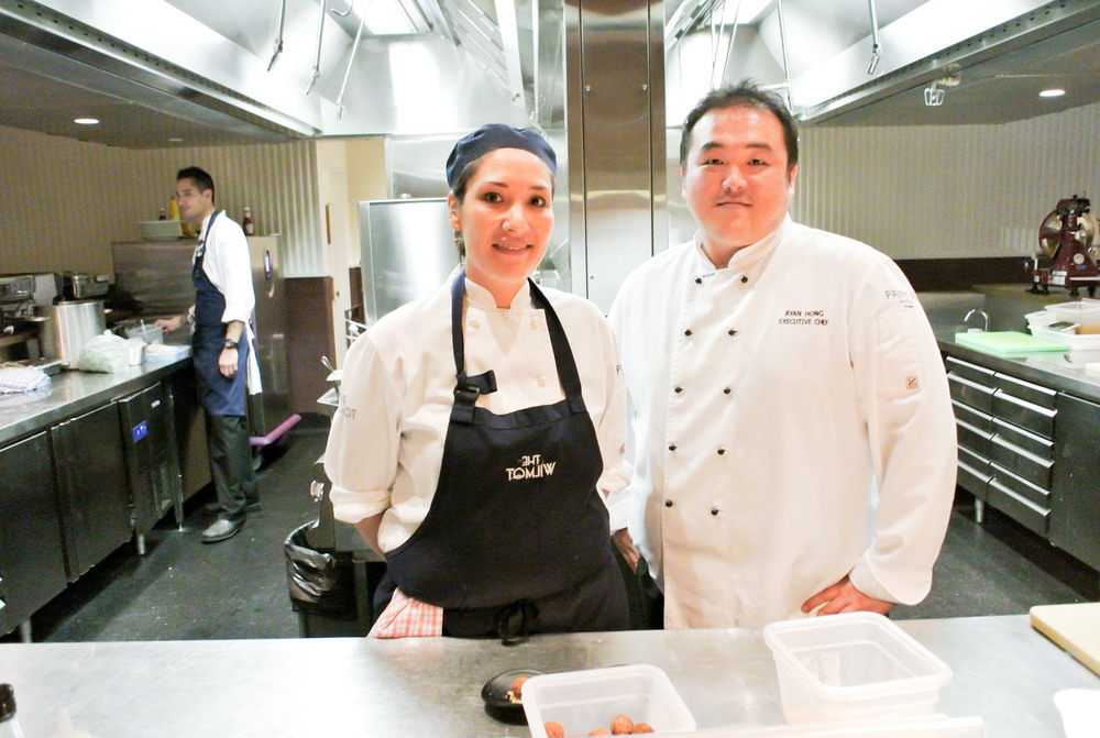 Pastry chef, Andrea Liu and Executive Chef, Ryan Hong.
