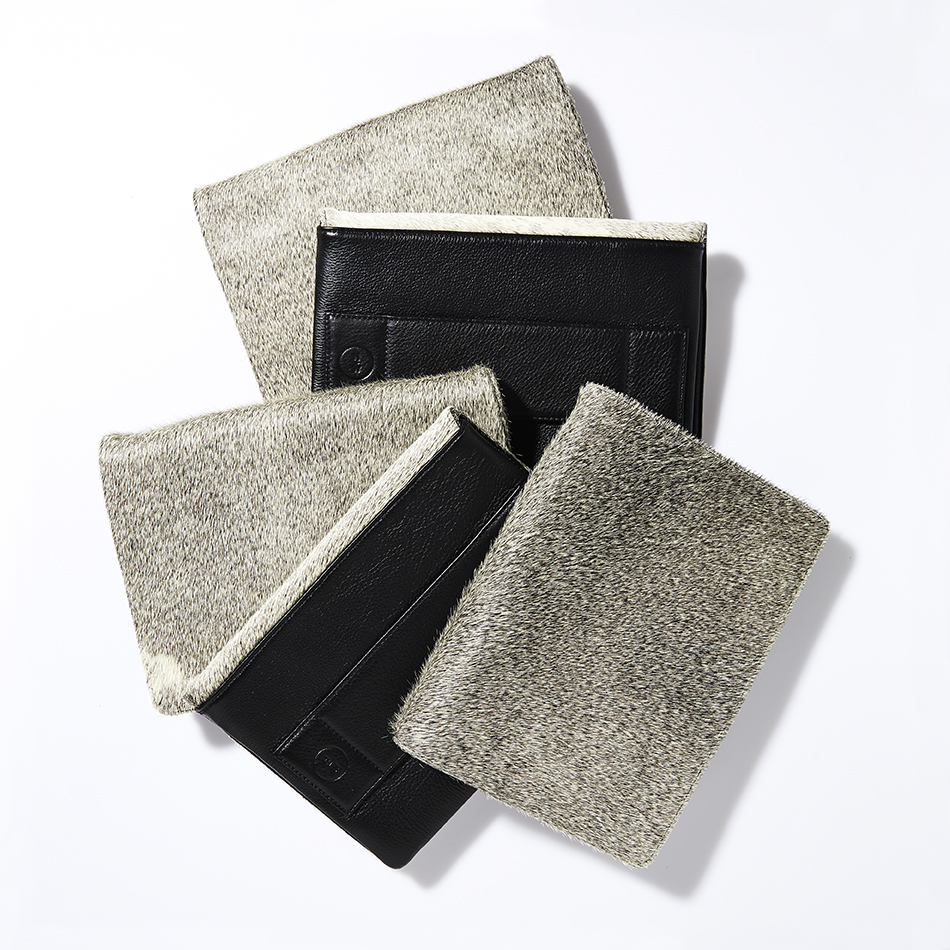 Everyday Grey Cowhide Clutch