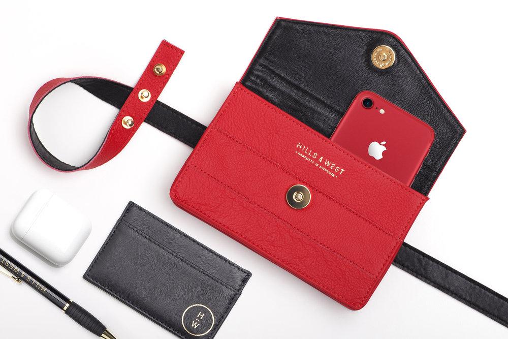 Lenny Belt Bag in Red