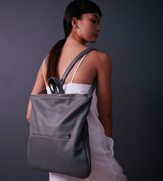 Monday vibes | Your 3 in 1 backpack will get you through the week. . . 📷 @chrisquyen  Model @wingyofficial  Hair @annashedrinsky  Linen jumpsuit @museumclothing  Morgan 3 in 1 leather backpack @hillsandwest Australian made