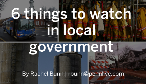 Six things to watch in local government - I made this slideshow to explain the many issues local governments would face in the year ahead in central Pennsylvania.