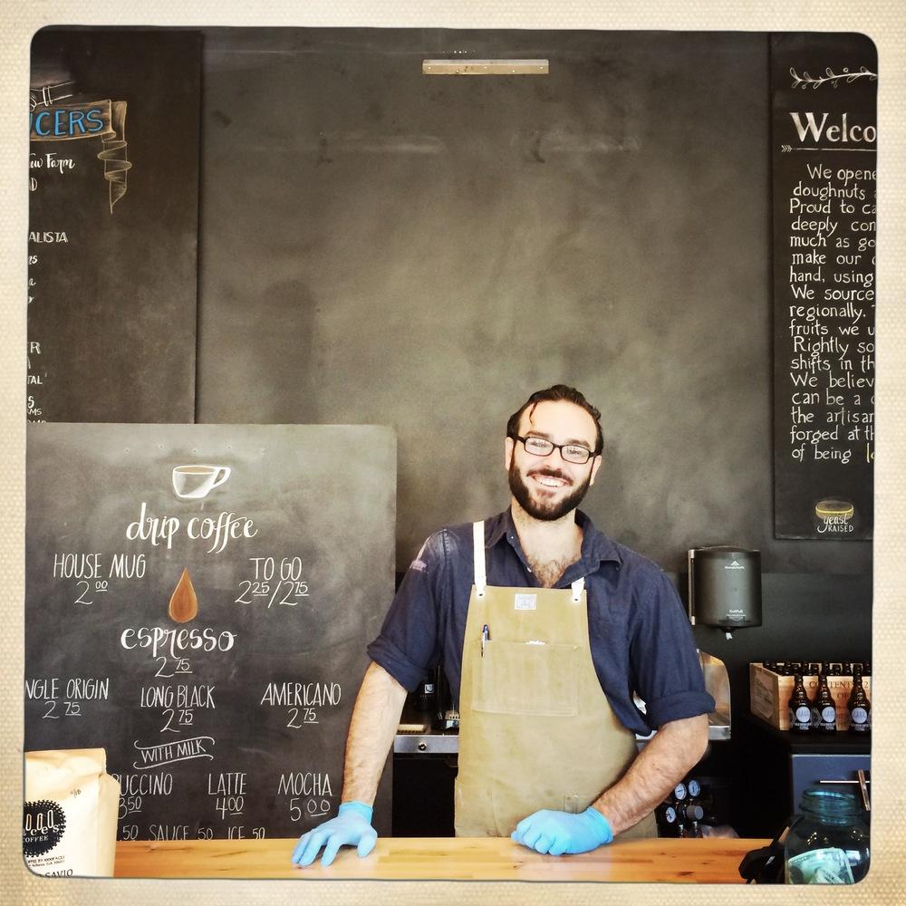 Zachariah makes a seriously goodcappuccino!