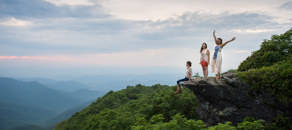 Photo shoot I had for Asheville's Underhill Rose at the top of Craggy Pinnacle.