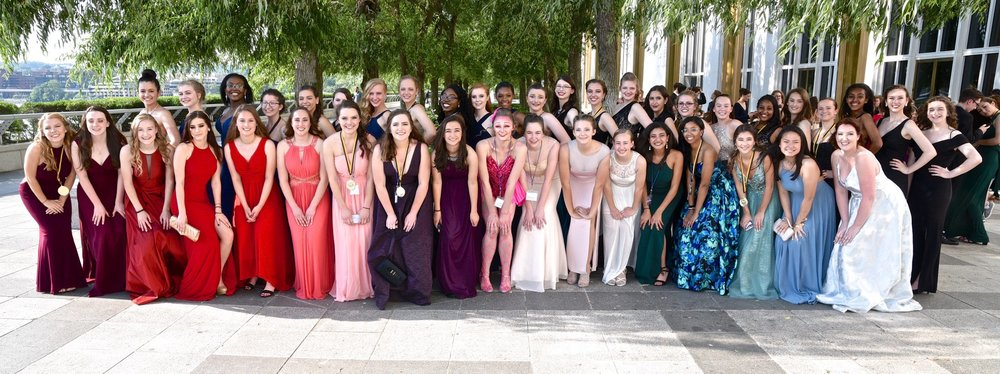 Robinson's production of Pippin takes home Best Orchestra, Best Costumes and Best Ensemble at the DC Area Cappies at the Kennedy Center.  Photo:  Ram snaps