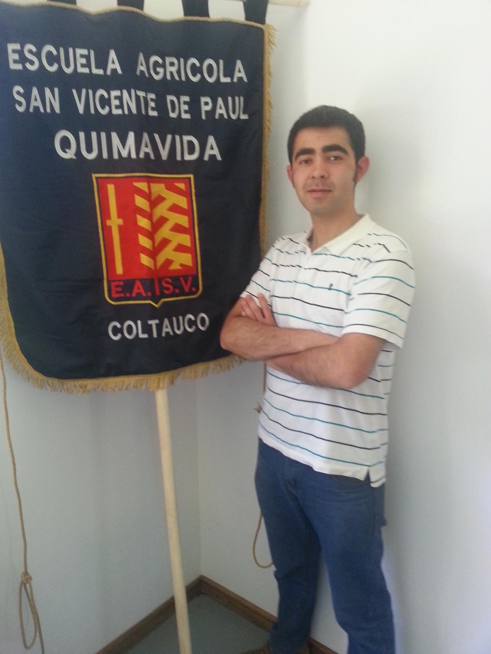 Cristian Díaz alumno de 5º medio agrícola.