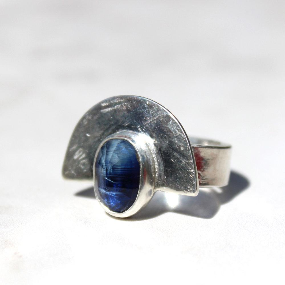 kyanite shield ring