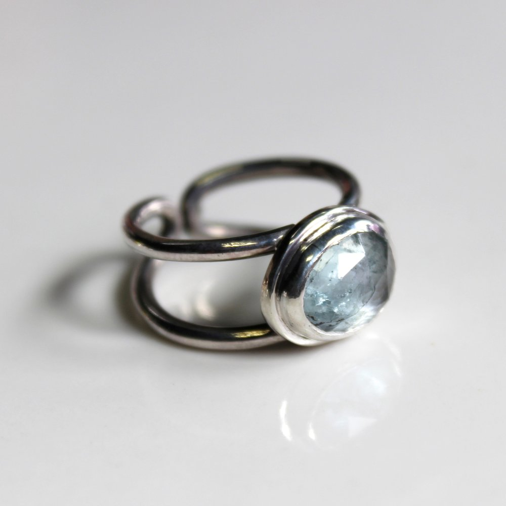sizable aquamarine ring