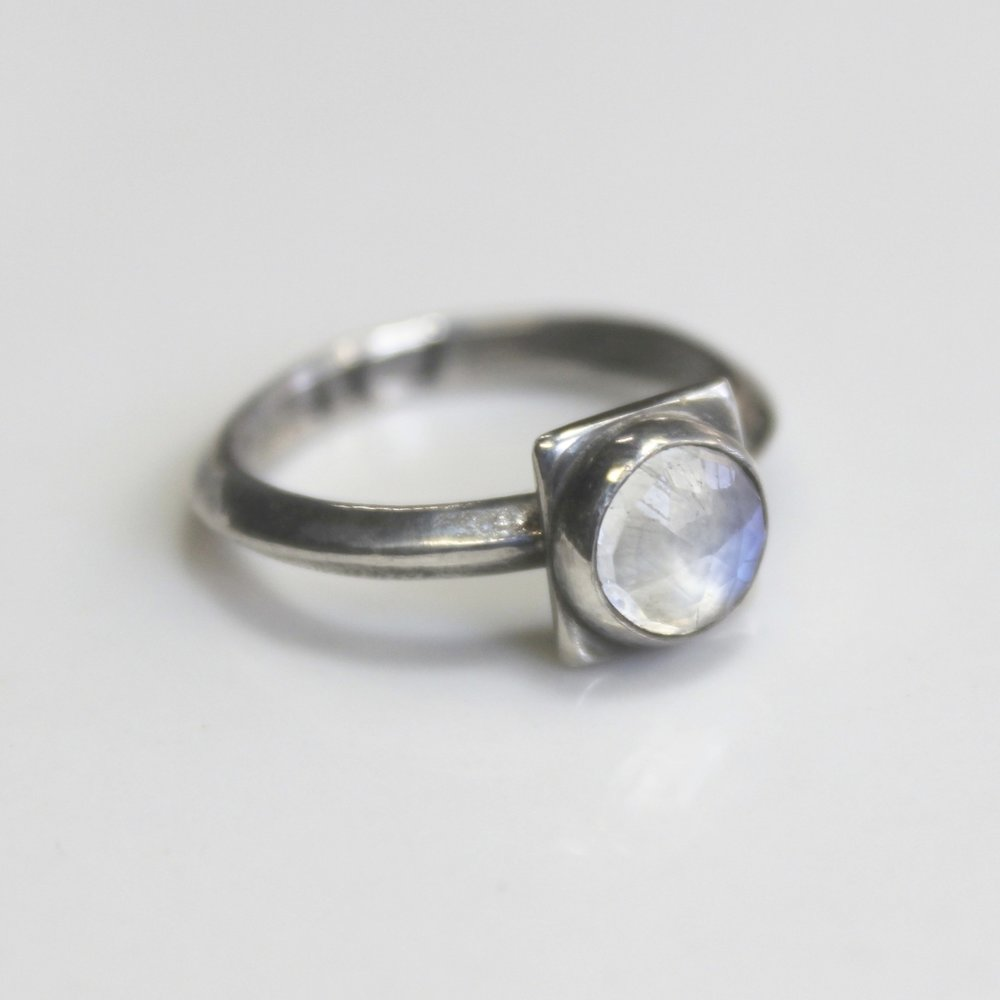 moonstone disco ring