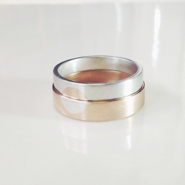 mirror wedding bands