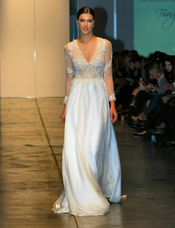 Willow Bridal Gown Design by Tanya Anic- Pearls by Paspaley at Australian Bridal Fashion Week.