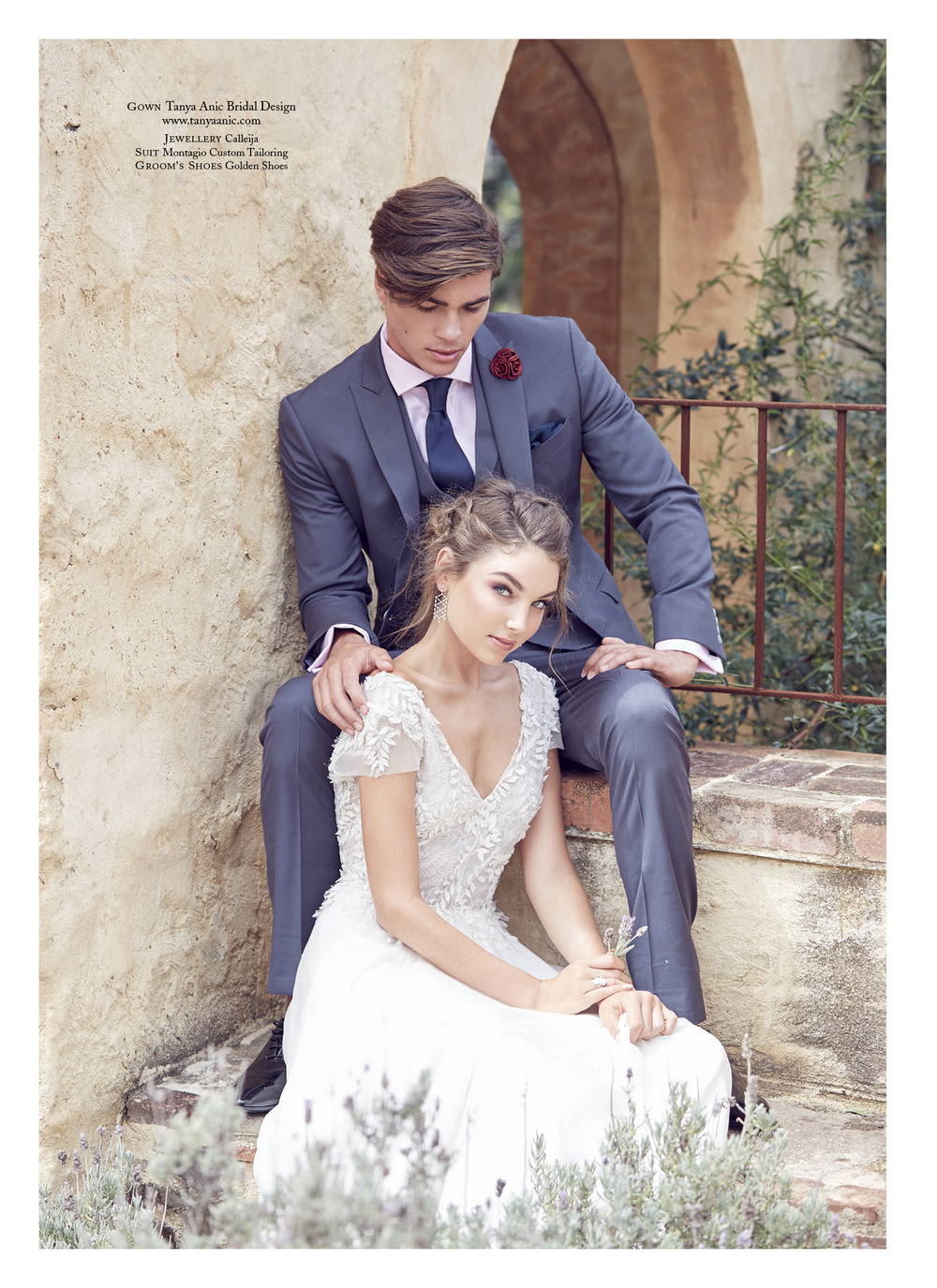 Willow bridal gown by Tanya Anic   as seen in   Luxury Weddings   magazine