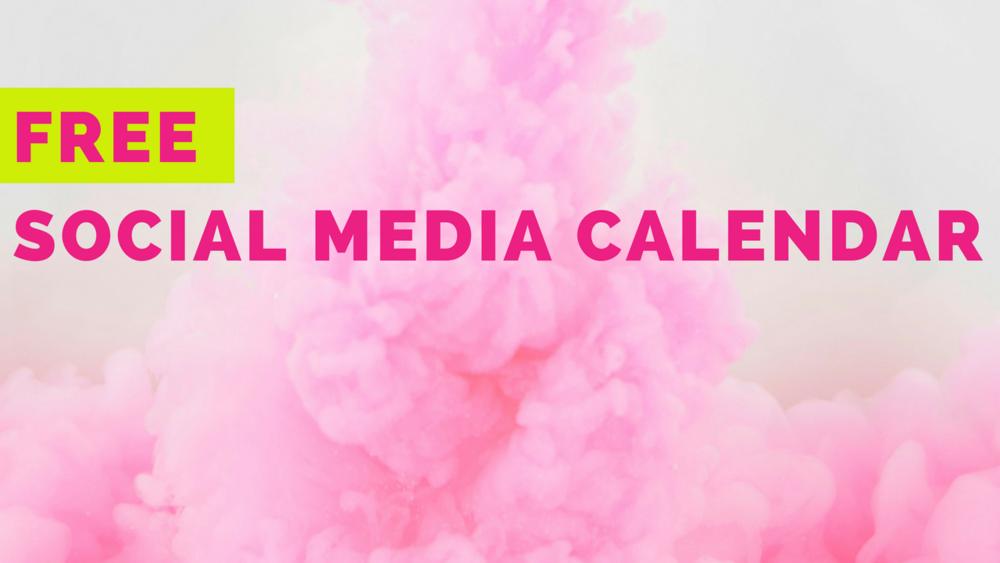 Free social media calendar from Hunter Niland Welling marketing agency Fort Worth, Texas