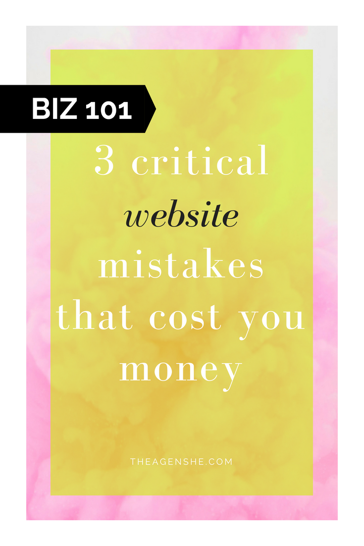 3 website mistakes that cost solopreneurs money