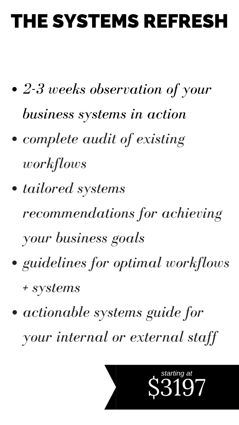 systems audit for interior designers and professional organizers