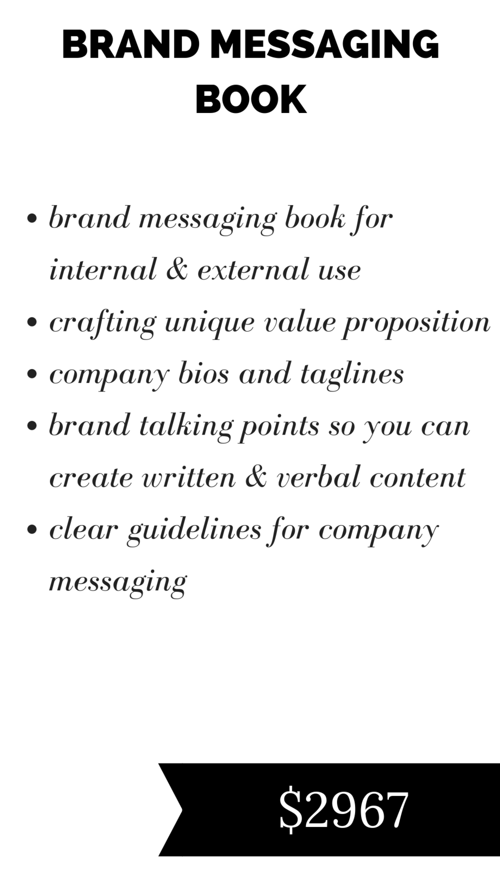 brand messaging and copywriting for service based businesses