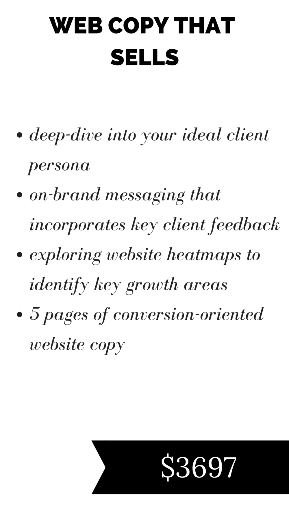 conversion website copy for service based businesses