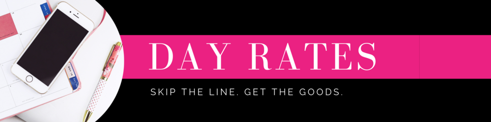 Marketing strategist and copywriter for women in service based businesses day rate service for quick deliverables