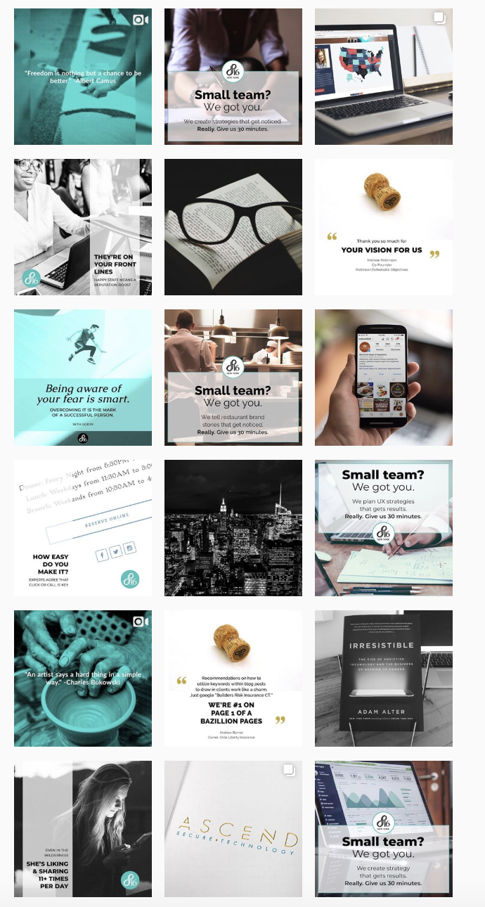 Full Service Instagram Management   Dynamic content, including video production, and management for a vibrant New York marketing agency empowering small businesses and non-profits.