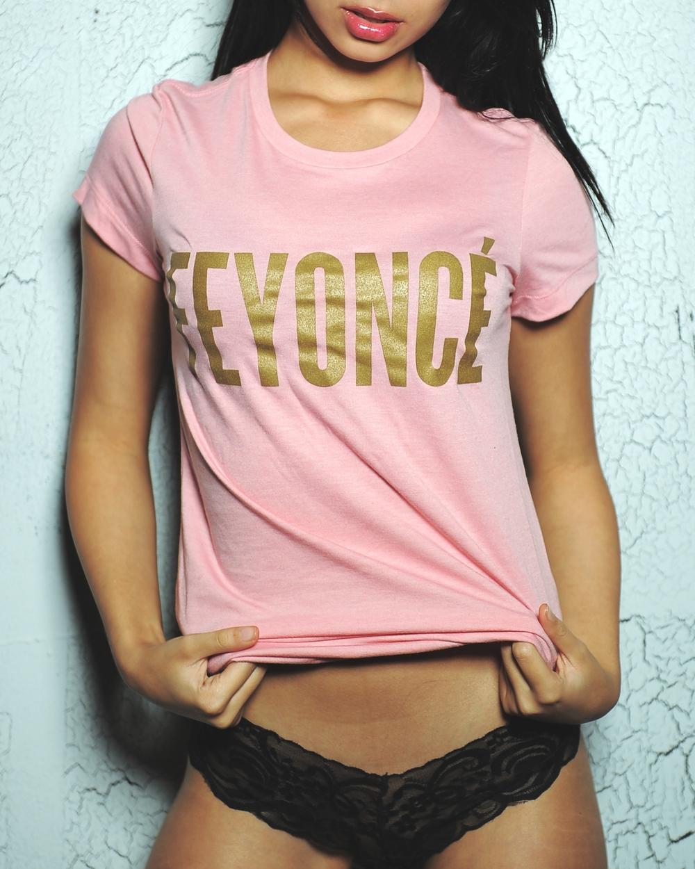 Womens Feyonce T Shirt Beyonce Pink — Emdem Apparel Handmade T ...