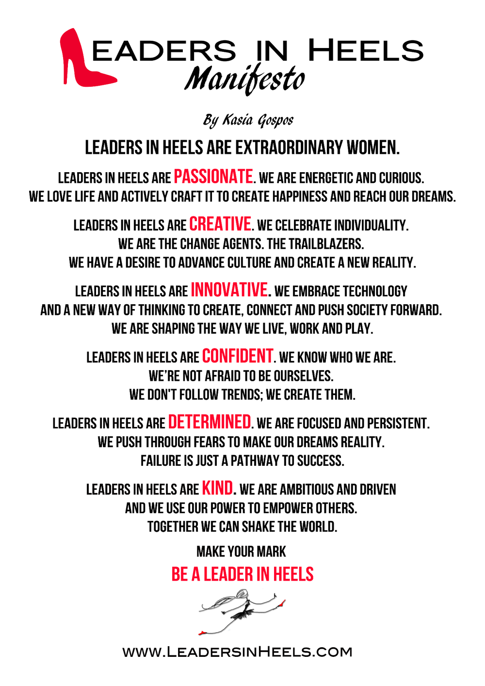 leaders in heels manifesto