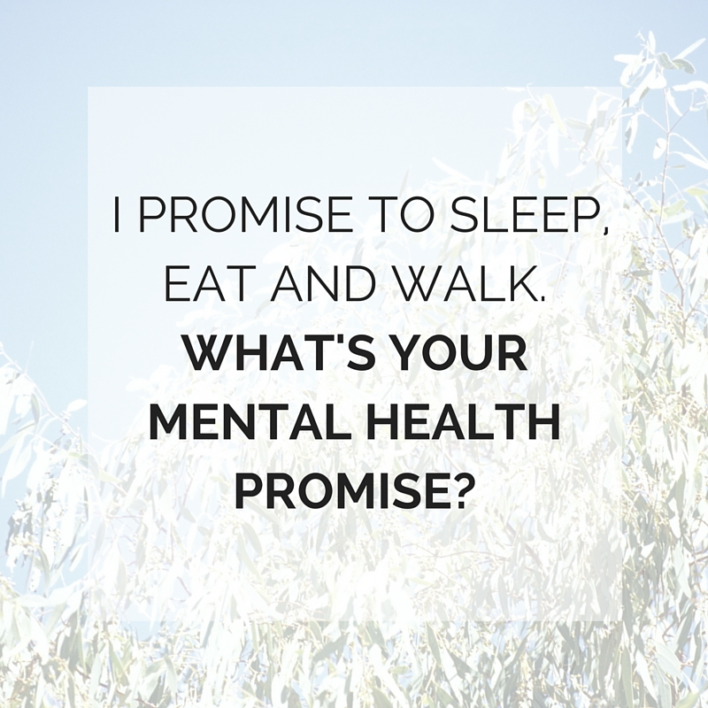 MY MENTAL HEALTH PROMISE, MENTAL HEALTH WEEK 2015 www.potential.com.au