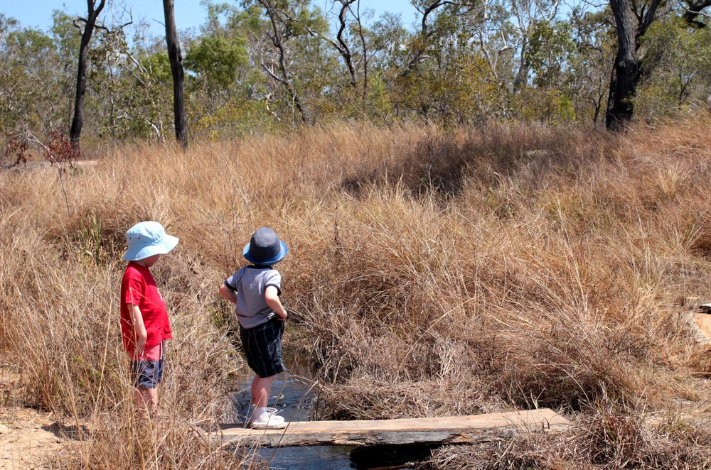 The littlest people enjoyed the 3km walk around the lagoon (at times, when they weren't insisting on being carried)