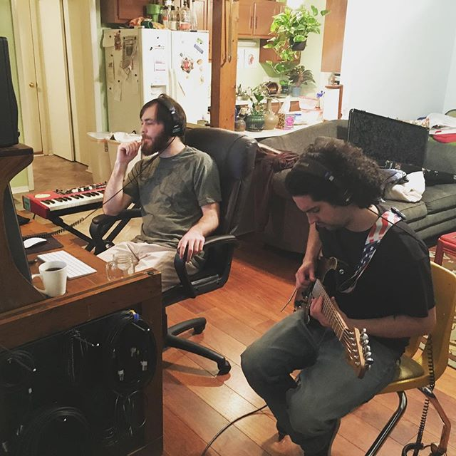 @cosmic_lemonade runnin' the session for our newest project with @jswisshere! Keep a look out, we'll post a link when its all wrapped up. PEACE!