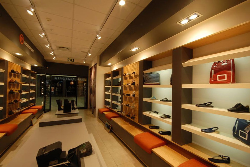 Shops and retail space fitting