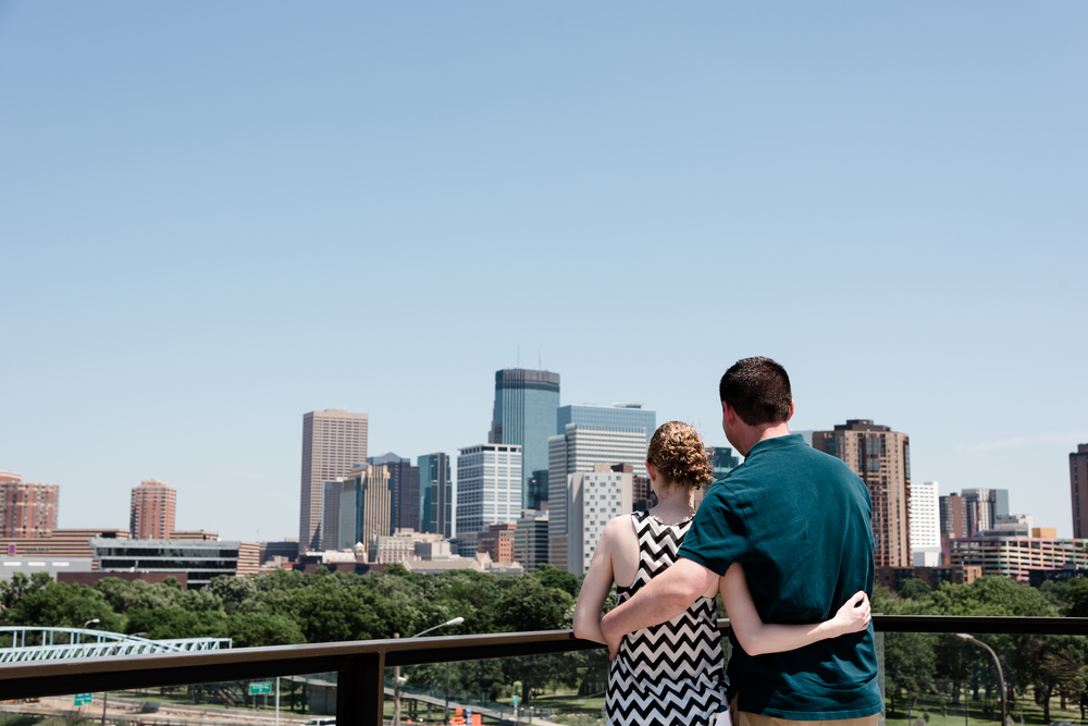 Minneapolis Skyline Engagement Photos - Twin Cities Engagement Photographer - Surprise Proposal at Walker Art Center