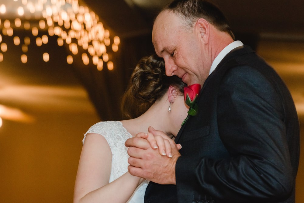 Traditional Dance with Father of the Bride at Blue Note Ballroom - Winsted, MN Wedding Photographer