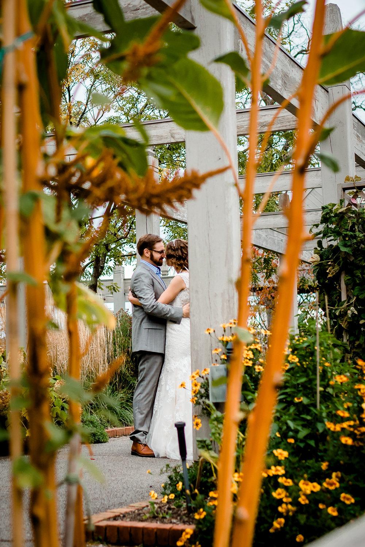 Minnesota Landscape Arboretum Wedding - Bride and Groom - Twin Cities Wedding Photographer