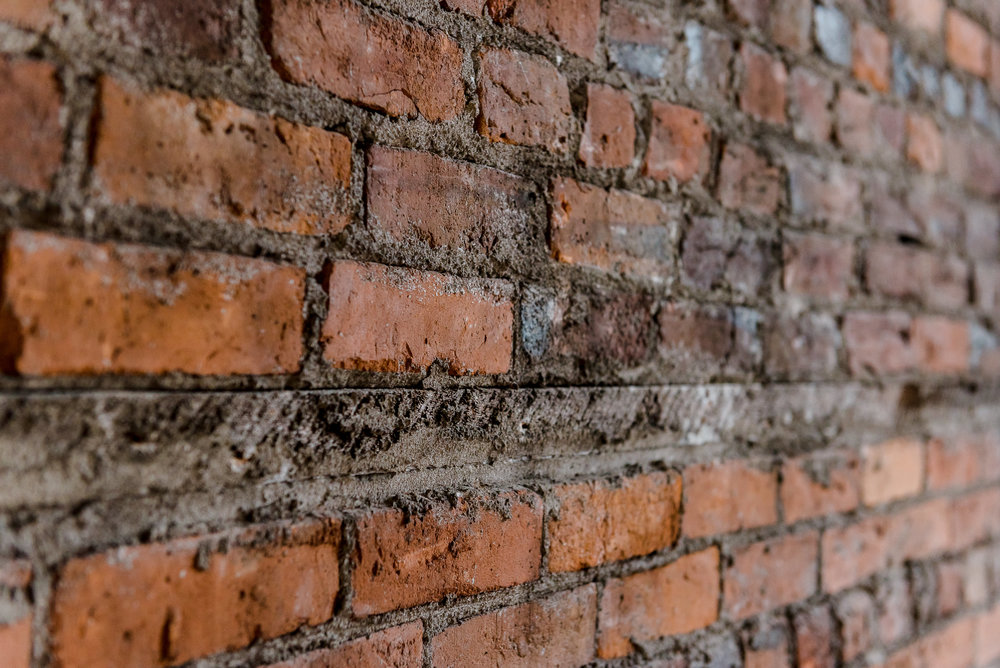 Gorgeous exposed brick from the early 1900's.