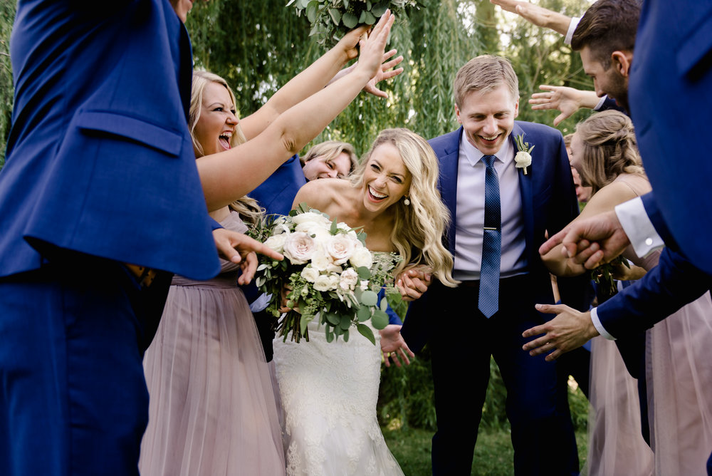 Minnesota Landscape Arboretum Wedding - Groom Blue Suit - Laura Robinson Photography