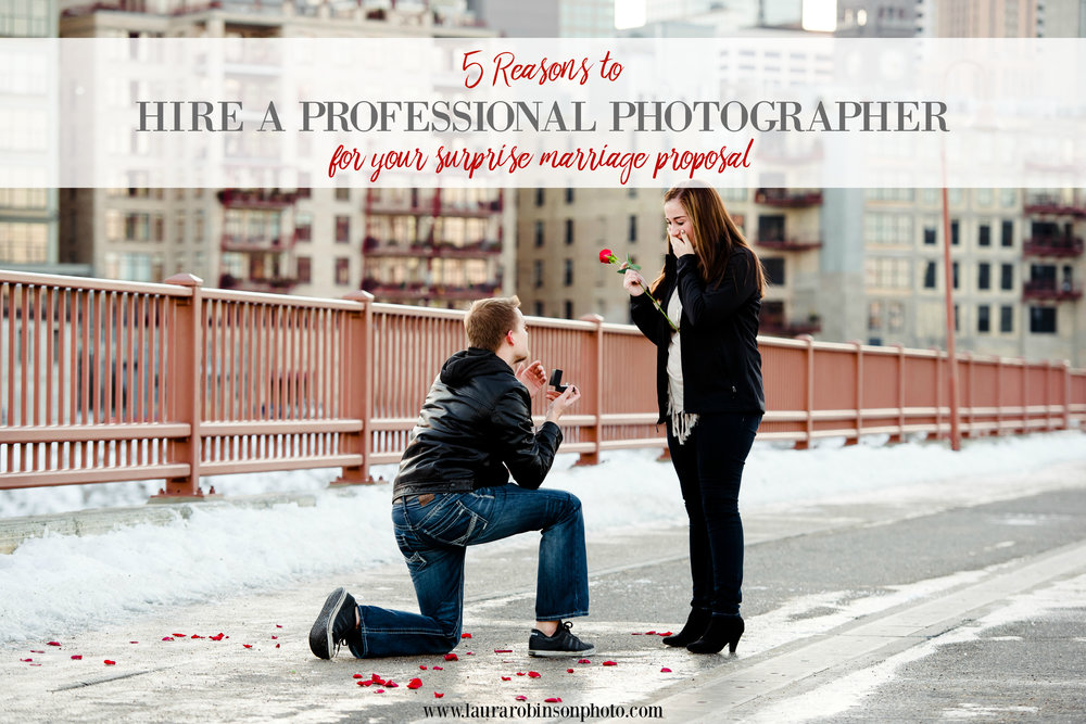 5 reasons to hire a professional photographer for your surprise