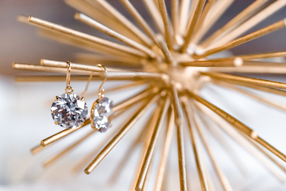 Kate Spade Crystal Earrings - Wedding Photography