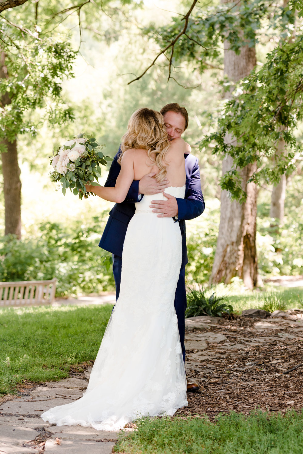 Emotional First Look with Dad - Laura Robinson Photography - Minnesota Wedding Photographer