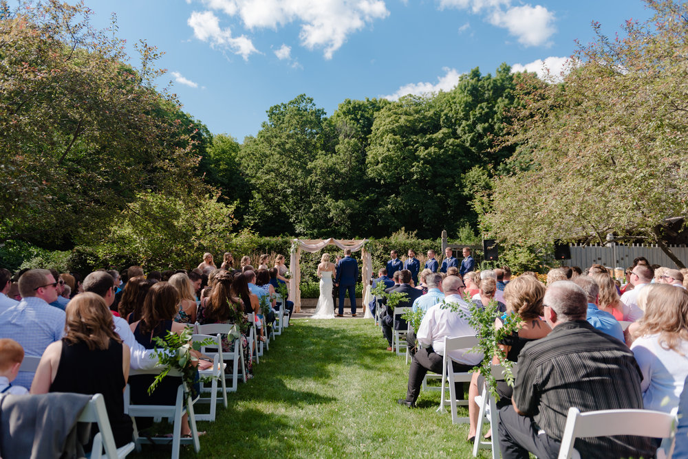 Wedding Ceremony in Sensory Garden - Minnesota Landscape Arboretum Wedding -  MN Wedding Photography