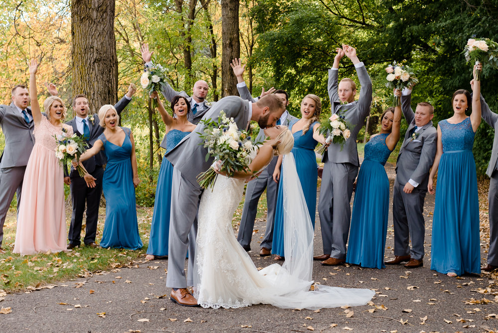 MIKENNA + MATT - VIBRANT FALL WEDDING AT THE WOODS CHAPEL