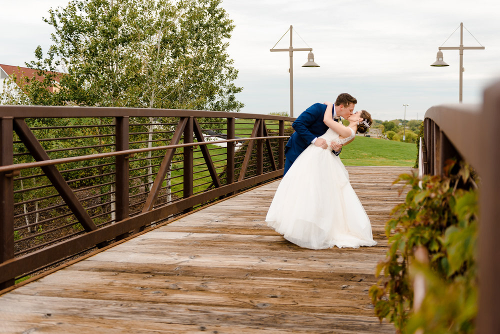 Elm Creek Chalet Wedding Photos - Romantic Bride and Groom Portrait