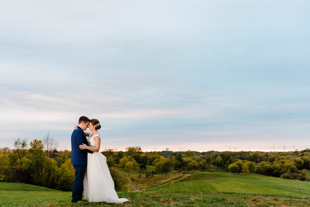 Sunset Bride and Groom at Elm Creek Chalet Park Reserve - Wedding Photography